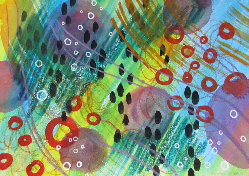Ruth Krijah art journal - richness. connecting to all of life's rich colours and flavours